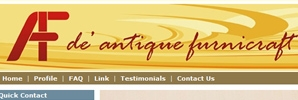 web design De Antique Furniture