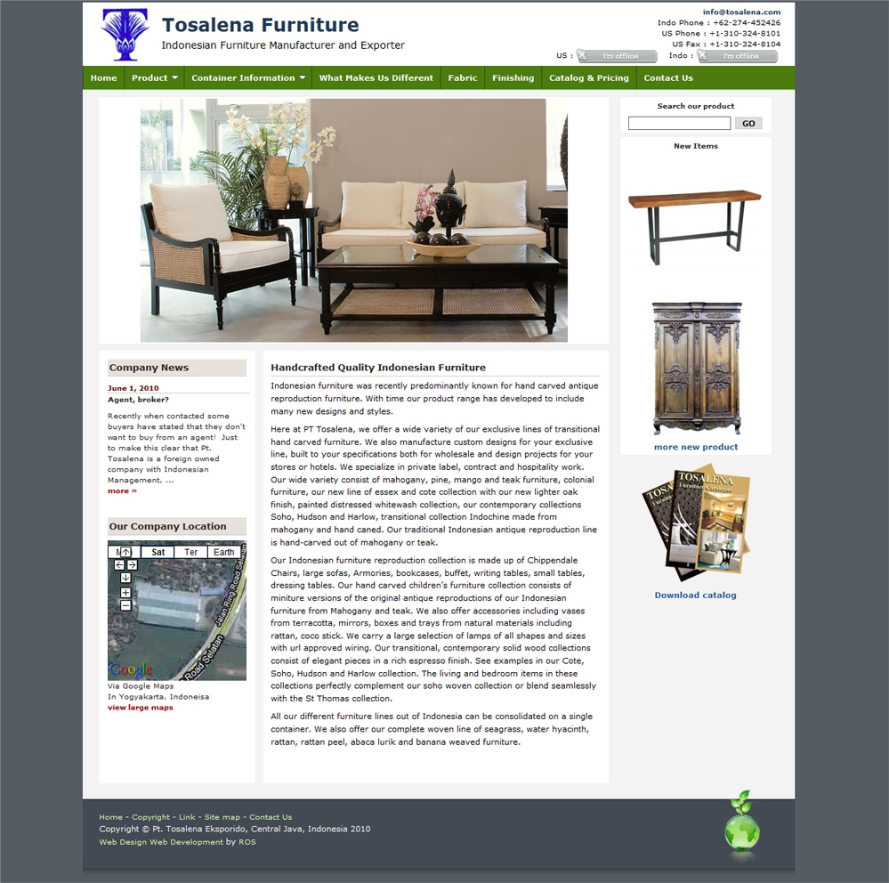 portfolio : Tosalena Furniture